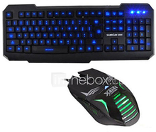 sumtax L1 pelaamista valoisa usb hiiri&näppäimistö kit 800/1200/1600/2400 dpi