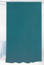 Badeforhæng - Petrol - 180x180 cm. - Inklusiv 12 plastik ringe - Klar til ophæng