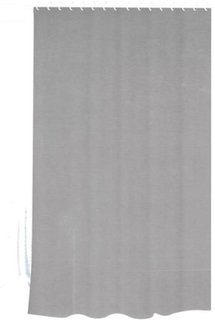 Badeforhæng - Gråt - 180x180 cm. - Inklusiv 12 plastik ringe - Klar til ophæng