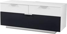 Carat mediabänk 120 cm - Vit / Svart