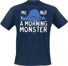 Sesam Stasjon - Cookie Monster - Not A Morning Monster -T-skjorte - marineblå