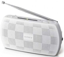 FM Radio SRF18W radio EXT spearker white - AM/FM - Stereo - Vit
