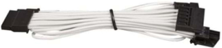Premium Individually Sleeved SATA Cable Type 4 (Generation 3) - White