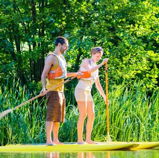 Stand-up paddleboard, halvdag – 3 personer