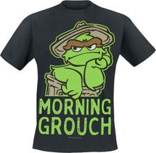 Sesam Stasjon - Oscar - Morning Crouch -T-skjorte - svart