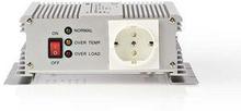 Nedis Strömväxelriktare, modifierad sinusvåg   24 V DC - 230 V AC   600 W   1x Schuko-uttag
