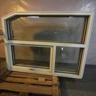 Topstyret fast vindue, Træ, 009487
