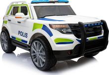 Polisbil - Elbil för barn 12V 7Ah 2x35W