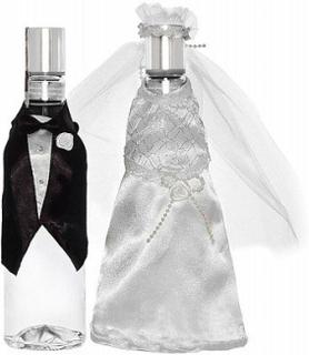 Flasköverdrag till bröllop