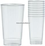 Transparenta dricksglas i plast - 455 ml - 16 st