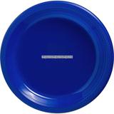 Mörkblå desserttallrikar i plast 17 cm - 20 st