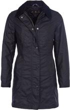 Barbour Belsay Wax Parka Women's Dame ufôrede jakker Sort UK 10 / EU 36