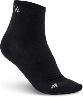 Craft Cool Mid 2-Pack Sock Unisex treningssokker Sort 43-45