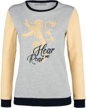 Game Of Thrones - House Lannister - Hear Me Roar -Collegegenser - flettet grå , gul