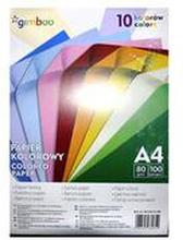 Gimboo - Papier kolorowy A4 , 100 artkuszy, 10 kolorów neon...