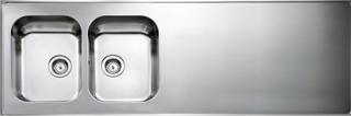 Intra Kök & Tvättstuga Atlantic HB HB16 - Rostfritt Vändbar