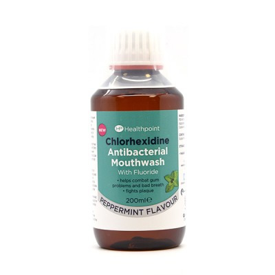 Healthpoint Chlorhexidine Antibacterial Mouthwash With Fluoride 200 ml