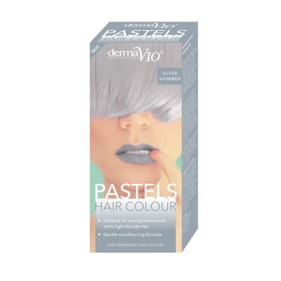 DermaV10 Pastels Hair Colour Silver Shimmer 1 kpl