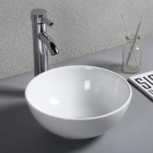 Rund tvättskål / handfat för bänkmontering