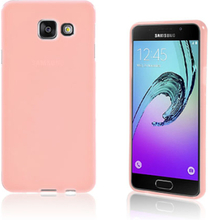 Solid Jelly TPU deksel for Samsung Galaxy A3 SM-A310F (2016) - rosa