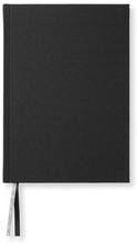 Anteckningsbok A5, 128 blanka sidor, svart, 21,5X15,5