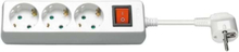 Power Socket x3 - Wh - Switch - 3m