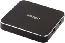 Premium Squared Aluminium - USB Type A & C USB hub - 4 porttia - USB 3.0 - Musta