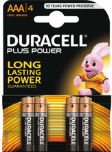 Plus Power AAA - 4 Pack