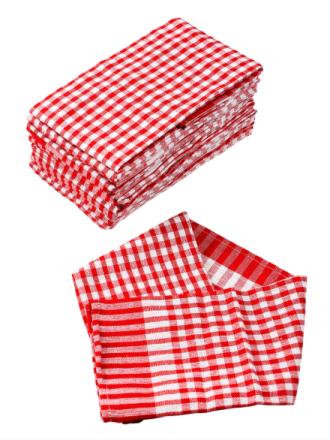 Captain Clean-kjøkkenhåndklær, 20-pk rød, rutete