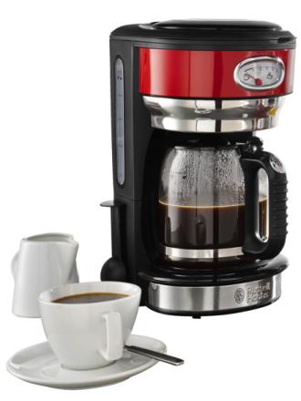 Kaffetrakter Russell Hobbs rød