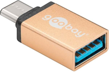 USB 3.1 C - USB 3 A adapter - Gold