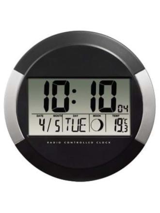 """Clock radio """"PP-245"""" DCF Wall Clock - musta"""