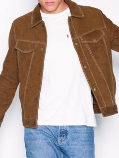 Topman Tan Suede Western Jacket Jakker & frakker Dark Brown