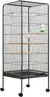 vidaXL fuglebur 54 x 54 x 146 cm stål grå