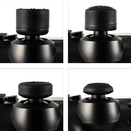 GNG 8 x myk gummi tommel grep svart styrespak joysticken ekstra høy...