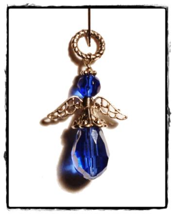 Berlock ängel, blå skyddsängel