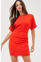 ASOS DESIGN wiggle miniklänning-Röd