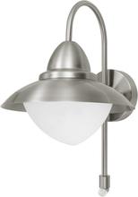 EGLO Utomhusvägglampa Sidney med sensor 60 W silver 87105