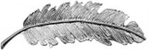 Tallulah - Silver Feather Hairclip