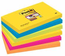 Post-it® Super Sticky Notes Rio de Janeiro blandade färger 76 x 127mm 6 block