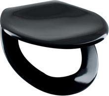 Arrow Opal Deluxe WC-sits svart, softclose