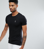 Religion Tall Crew Neck T-Shirt In Muscle Fit - Bl