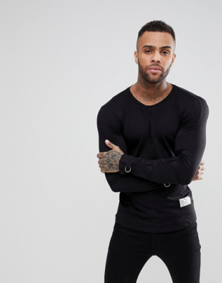 Religion Longline Long Sleeve T-Shirt With Tape Sl