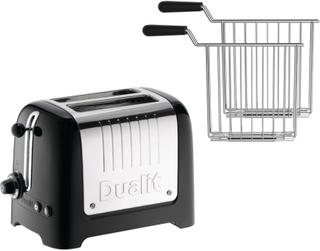 Dualit Brödrost Lite 2-skivor High Gloss Svart + Toastgaller 2-pack Dualit