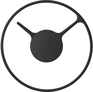 Stelton Time klocka/väggur svart, 30cm Stelton