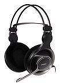 HS-100 Headset Stereo Gaming - Svart