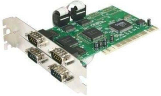 4 port PCI RS232 Serial Adapter Card with 16550 UART - seriel adapter