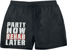 Party Now Rehab Later - -Badeshorts - svart