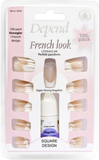 Depend French Look Nails 100-pack Lösnaglar Rosa