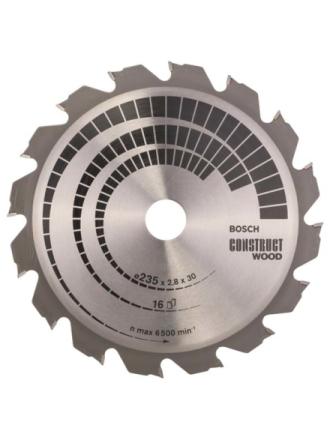 Pyörösahanterä Construct Wood 235 x 30/25 x 2,8 mm 16